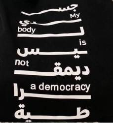 """Tot bag """"my body is not a democracy"""""""